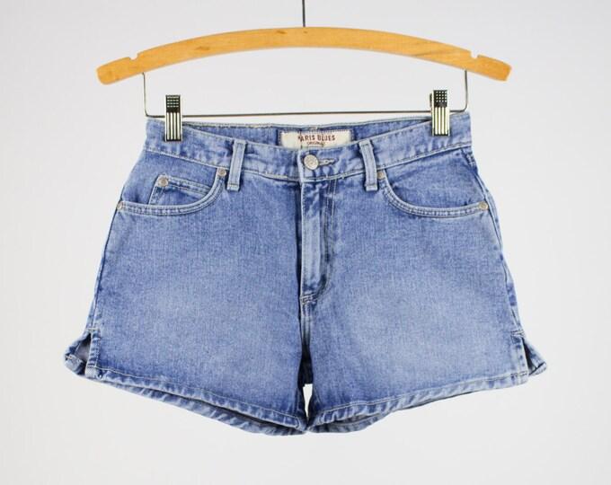 Vintage Denim Shorts | 90s High Waist Jean Shorts | Size 1