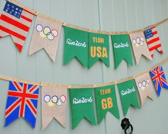 Rio Olympics 2016 5th - 21st August *Your choice of Team* Garland/Bunting