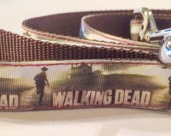 Walking Dead inspired leash, collar, or matching set