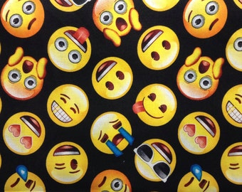 Fat face etsy for Emoji fabric
