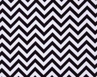 """Black Chevron Fabric - 3/8"""" Wide Stripe - Premium Quilt Fabric"""
