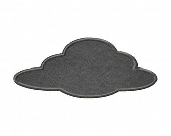 Halloween Black Cloud Includes Both Applique and Stitched
