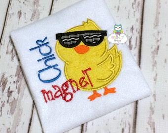 Chick Magnet Shirt or Bodysuit, Boy Easter Shirt, Easter Shirt for Boys, Chick Magnet Shirt, Chick Magnet, Easter Shirt, Boy Easter, Easter