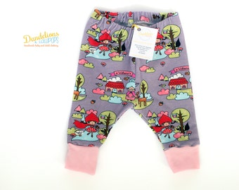 Baby Leggings Little Red Riding Hood Pink Lilac .. Children's Clothes Handmade UK, Soft Jersey Fabric