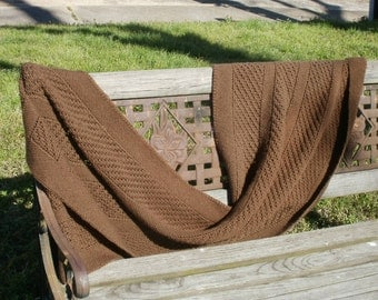 Brown Rectangular Shawl