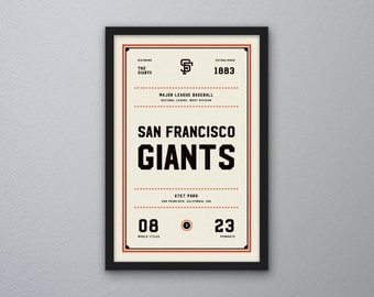 "San Francisco Giants ""Day & Night"" Print"