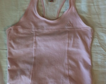 90's Baby Pink Racer Back Adidas Tank