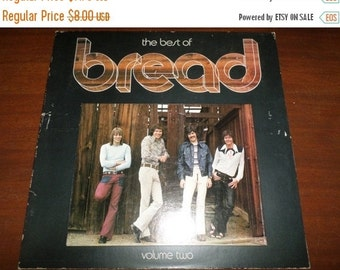 Save 30% Today Vintage 1974 Vinyl LP Record The Best of Bread Volume Two Excellent Condition 1765