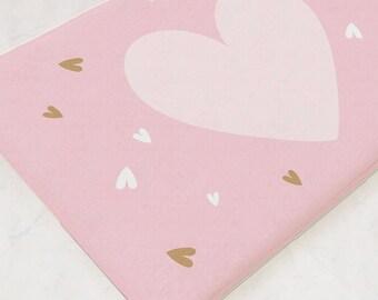 Bathmat, Bath Mat, Shower Mat, Heart Decor, Pink Decor, Bathroom Accessories