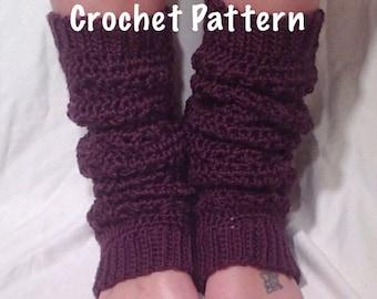 Crochet Pattern - Lace Stitch Crochet Leg Warmer