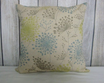 Throw Pillow. Floral Pillow. Pillow Cover. Green Pillow. Beige Pillow. Blue Pillow. Grey Pillow