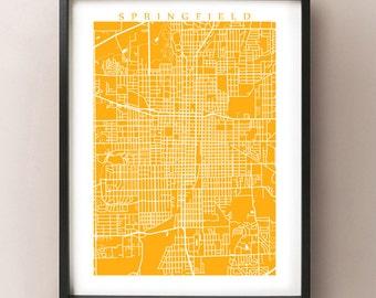 Springfield, IL City Map Print