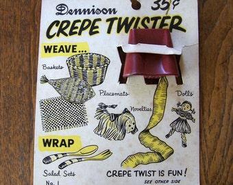 Vintage Dennison Crepe Twister NOS
