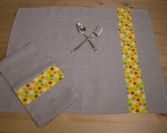Linen Kitchen Towel Set 100% Linen