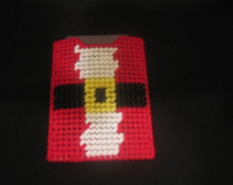 Plastic Canvas Santa Shirt Gift Card or Money Holder