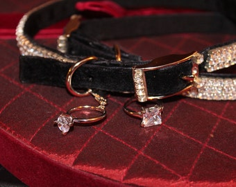 Diamond Ring charm Pet Collar diamond ring charm