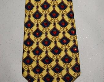 Strawberry rhinestone necktie