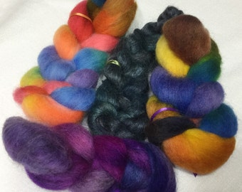 Hand Dyed Wool Sampler, Trial Size, 0154