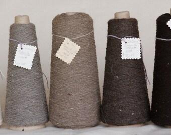Navajo Churro wool yarn, single ply, SABANILLA WEIGHT weaving yarn.  219yards in 2 oz hanks. 5 beautiful non-dyed Natural Colors available.