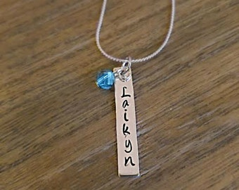 Personalized Necklace//Mother's Day gift//Gift//Hand Stamped