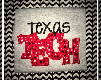 Texas Tech Applique TShirt