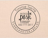 Handle Mounted rubber stamp or Self inking - perfectly posh - SF 08
