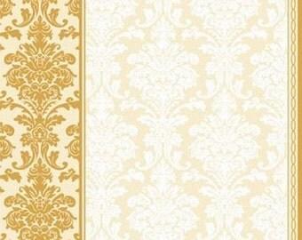 Vintage Style Decoupage Paper Lunch Napkins Serviettes - Classic pattern cream.Set of 5Mix Media,party napkins,Serviettes,Arts paper ,Craft