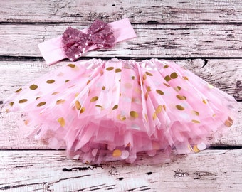 Baby Girls Clothes Baby Girl Tutu Coming Home Outfit Baby Girl Bodysuit Tutu and Headband Set Baby Shower Gift Take Home Outfit
