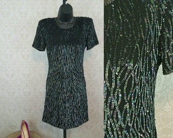 Vintage Night Vogue sequin dress