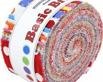 Basic Brights Jelly Roll by Windham Fabrics