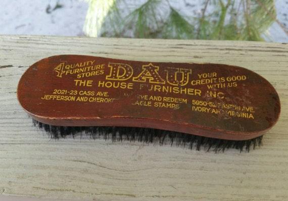 Antique Advertising Shoe Shine Brush Dau Furniture St. Louis Missouri
