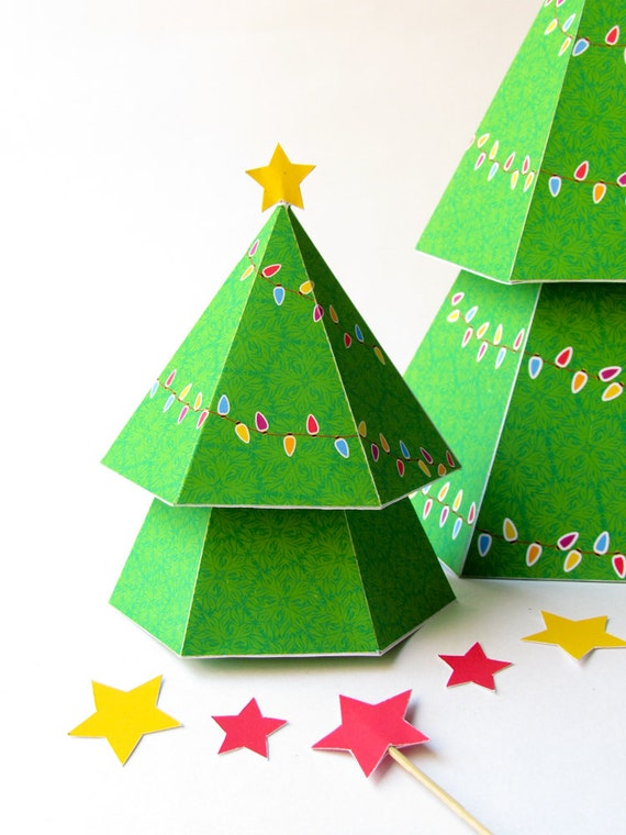 diy christmas tree gift boxes diy holiday ornaments printable templates tree centerpiece christmas favor boxes instant digital download pdf - Christmas Tree Box