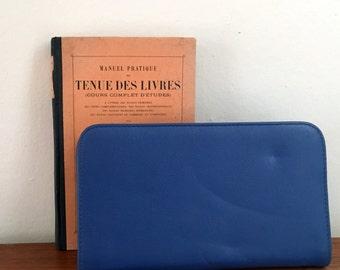 Blue wallet, vintage 90 s