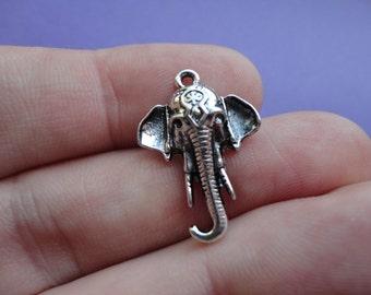 Elephant Charm 10pcs 25x18mm E051