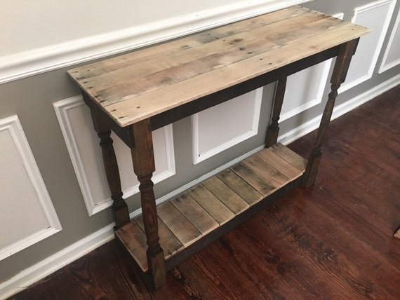 Foyer Table Etsy : Items similar to rustic foyer entry table reclaimed