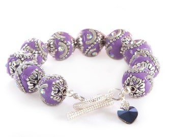 BellaGemaNails Purple Chunky Bracelet