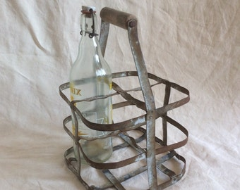 Antique bottle carnier / vintage 50's