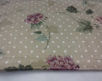 1 Yard Waverly Home decor fabric/Crafted in U.S.A/Shabby Chic Fabric/Floral Print pillow cover fabric