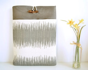 Modern Grey Laptop Sleeve, Laptop Case, Laptop Cover, Laptop Pouch, Padded Computer Bag Custom Size