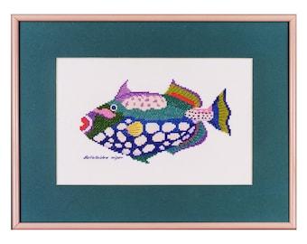 Clown Triggerfish Cross Stitch Kit