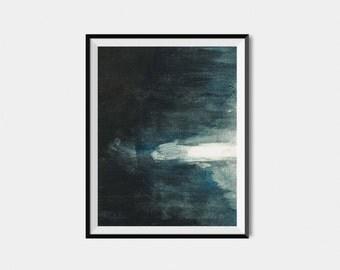 Black Abstract Art Print. Abstract Art Print. Black Abstract Art. Large Black Abstract