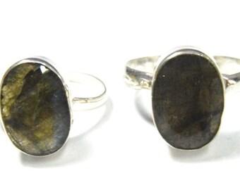 Labradorite Adjustable Ring