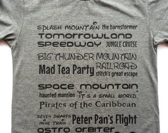 Theme Park ride inspired tee for adults