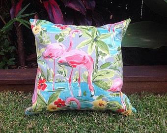 Cushions, Pink Flamingo Cushions, Outdoor Pillows Outdoor Cushions, CUSHION COVER ONLY, Pink Flamingo Scatter Cushions Modern Retro Pillows