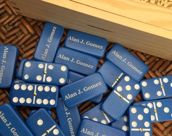 CUSTOMIZED Dominoes, PERSONALIZED Wooden Box, Groomsman gift, Groomsmen Gift, Dominos, Family Game Night,
