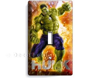 The Incredible Hulk Green Superhero Bruce Banner Single Light Switch Cover  Plate Boys Bedroom Super Hero
