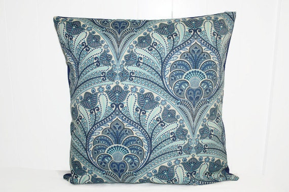 Tommy Bahama Decorative Bed Pillows : Decorative Outdoor Throw Pillow Tommy Bahama Blue Damask