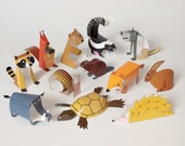 Forest | DIY Paper Craft Kit | 3D Paper Toys | Colourful Cutouts to Assemble | Creative Activity