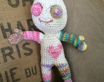 Wizzledorf Rainbowpants - amigurumi zombie doll