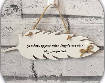 Feather plaque